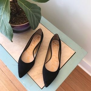 Sam Edelman Suede Pointed Toe Flats